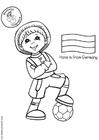 Målarbild Hans med tysk flagga