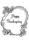 M�larbilder Happy Thanksgiving