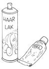 Målarbild hÃ¥rstyling - gel och spray