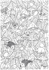 Målarbild höst i skogen