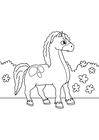 Målarbild häst pÃ¥ sprÃ¥ng