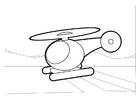 Målarbild helikopter