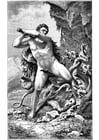 Målarbild Herkules och ormen