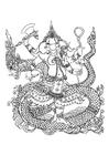 Målarbild hinduiska guden Ganesh
