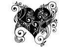 Målarbild hjärta
