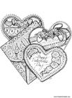 Målarbild hjärtan pÃ¥ alla hjärtans dag