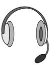 Målarbild hörlurar med mikrofon