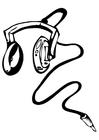 Målarbild hörlurar