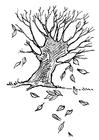 Målarbild höstträd