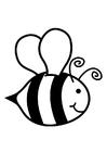 Målarbild honungsbi