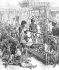 Målarbild hunger i Indien