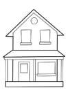 Målarbild hus