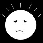 Målarbild huvudvärk