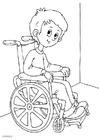 Målarbild i rullstol