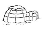 Målarbild igloo