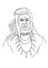 Målarbild indian