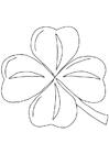 Målarbild irländsk klöver - Shamrock
