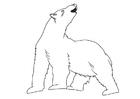 Målarbild isbjörn