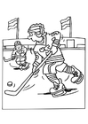Målarbild ishockey