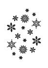 Målarbild iskristaller
