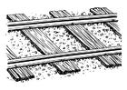 Målarbild järnväg