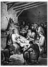 Målarbild Jesu födelse