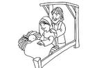 Målarbild Jesus födelse