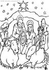 Målarbild Jesusbarnet i krubban