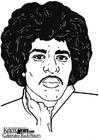 Målarbild Jimi Hendrix