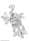 Målarbild jonglör