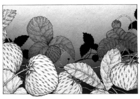 Målarbild jordgubbar