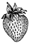Målarbild jordgubbe