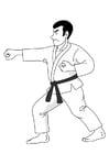 Målarbild judo