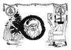 Målarbild jul