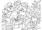 Målarbild julafton