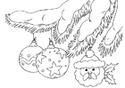 Målarbild juldekorationer