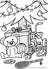Målarbild julklappar