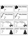 Målarbild julklapppsetiketter