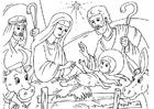 Målarbild julkrubba