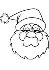 Målarbild jultomten