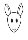 Målarbild känguruns huvud