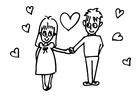 Målarbild kärlek