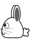 Målarbild kanin - sida