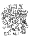 Målarbild karneval för barn