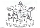 Målarbild Karusell