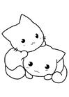 Målarbild kattungar