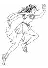 Målarbild keltisk flicka