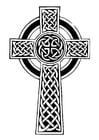 Målarbild keltiskt kors