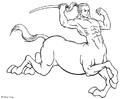 Målarbild kentaur