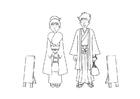 Målarbild kimono
